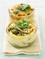 Recette Clafoutis Anchois-Olives Croc'frais