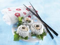 Maki saumon cassis et coriandre