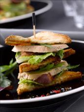 Le « club sandwich » Foie Gras et Magret