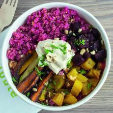 Salade de quinoa rose, betterave & carottes, Dubble