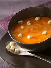 Soupe au potimarron et Morbier