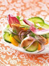 Salade de concombre de France à la pêche