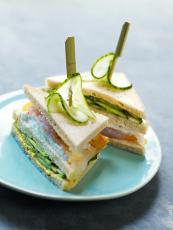 Club sandwich concombre mozarella haddock