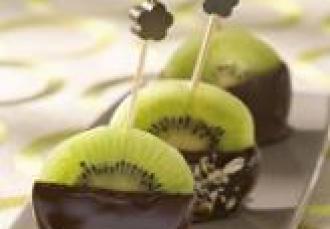 Sucettes de kiwi de l'Adour au chocolat