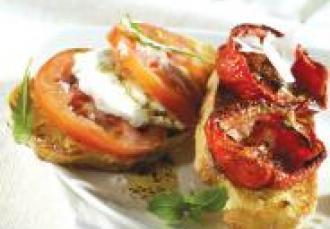 Bruschetta Mozzarella Tomates de France