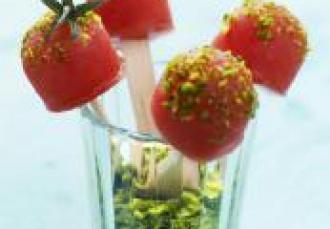 Tomates glacées comme des bonbons