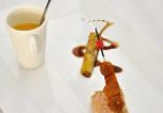 Tartine de foie-gras potimarron et girolles