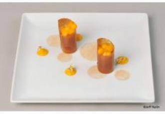 Fuseaux croustillants au caramel et mangue gingembre