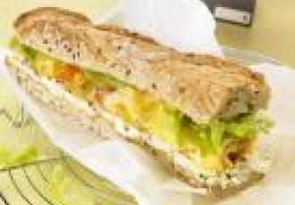 Sandwich à l'omelette et au Boursin