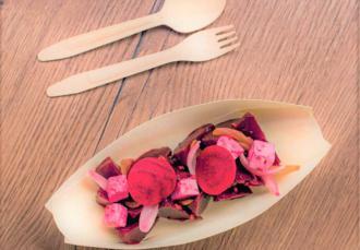 Salade de betterave, feta et oignons rouges #FooDeCouleur
