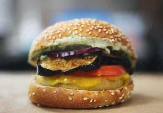 le burger vegan Steven Cigale par Burger Theory