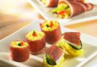 Sushis de Jambon Serrano Consorcio au riz safrané