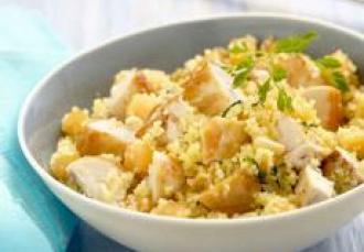 Salade de poulet fermier des Landes grillé et semoule à la menthe