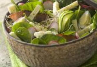 Salade croquante au Morbier