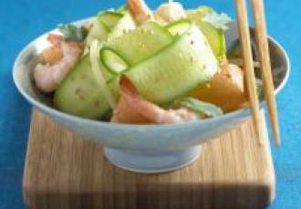 Salade de concombre de France à la thaï