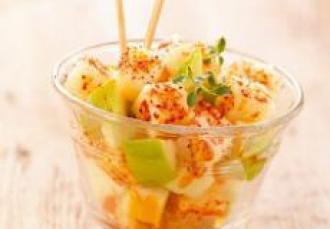 Salade de pommes et fromage de brebis piment d'Espelett